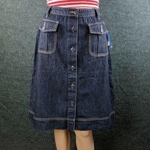 NWT Old Navy Button Down Denim Skirt